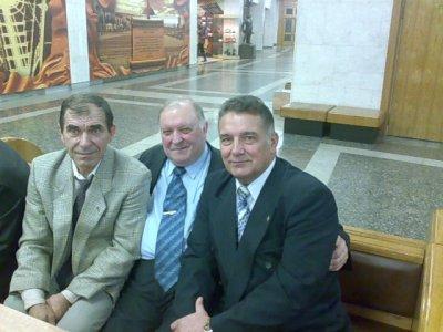 Москва, Поклонная Гора, празднование 80-летия ХВВАУЛ. Танкушин, Семенюта и П.Г. Гончаров