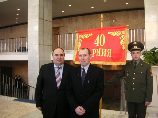 Побывали 15 февраля в Большом Кремлевском дворце на праздновании 17 годовщины вывода войск из Афганистана.