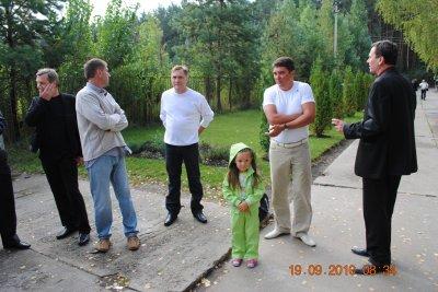 В.Колпаков, А.Дорофеев, Ю.Байраченко, Славик Ронжин с дочкой, ну и Стас