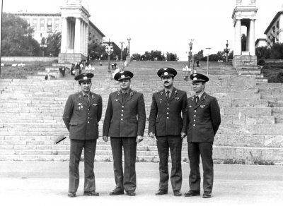 На госэкзаменах. Тосено И, Енин В, Бажан И, Денисов В.