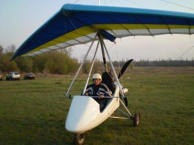Лётный сезон 2009 года открываем полётом на мотодельтоплан.