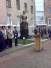 Открытие памятника Кожедубу в день 80-летия ХВВАУЛ
