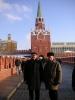 У Троицкой башни И. Чайка и В. Потапов
